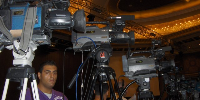 Cameras ready for the Opening Ceremony