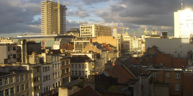 Antwerp in the morning sun.