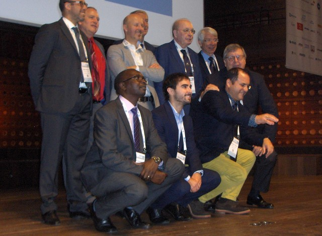 The winners of the different maintenance awards, on the left Stefano Salvetti (IT).