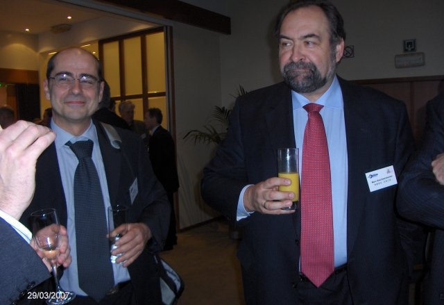 Herr Marc Descheemaecker, NMBS (on the right)