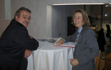 Dr. Katja Feige, EuroForum Manager and Mr. Herbert Jung