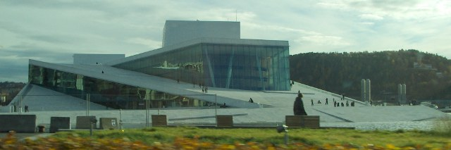 The new opera of Oslo, , built on 2007 by Kjetil Traedal Thorsen (NO) and his Snohetta team.